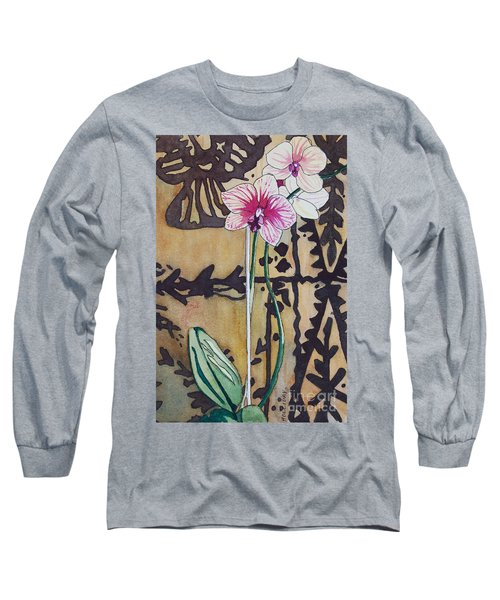 Small Orchids Long Sleeve T-Shirt
