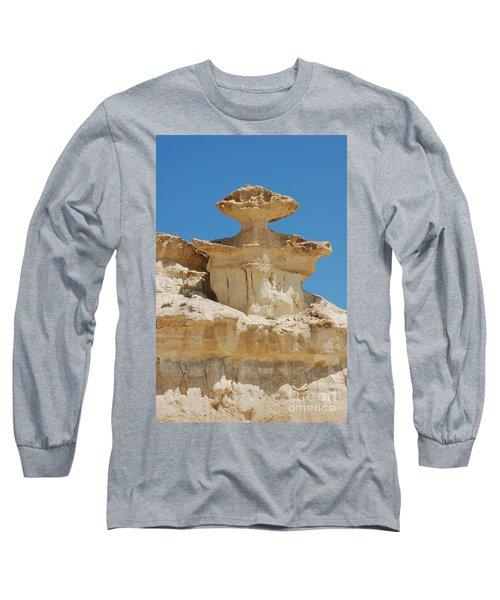 Smiling Stone Man Long Sleeve T-Shirt by Linda Prewer