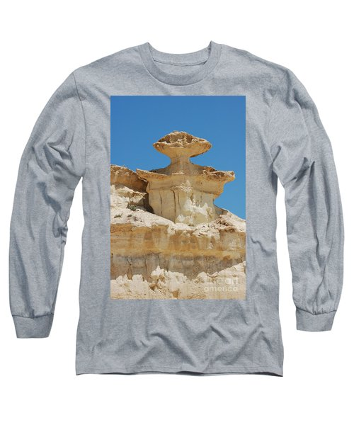 Smiling Stone Man Long Sleeve T-Shirt
