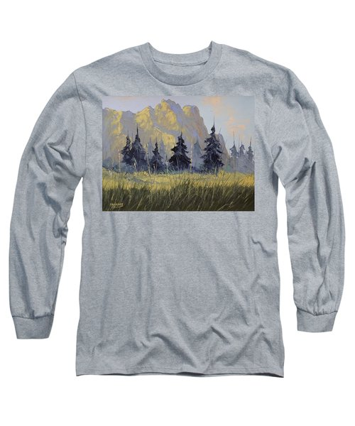 Long Sleeve T-Shirt featuring the painting Smith Rock Oregon by Richard Faulkner