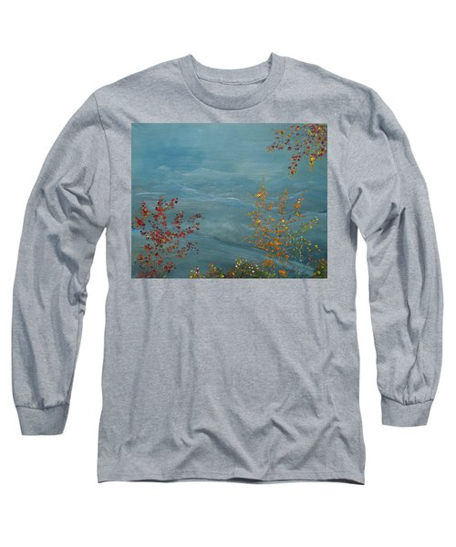 Long Sleeve T-Shirt featuring the painting Smoky Mountains In Autumn by Judith Rhue