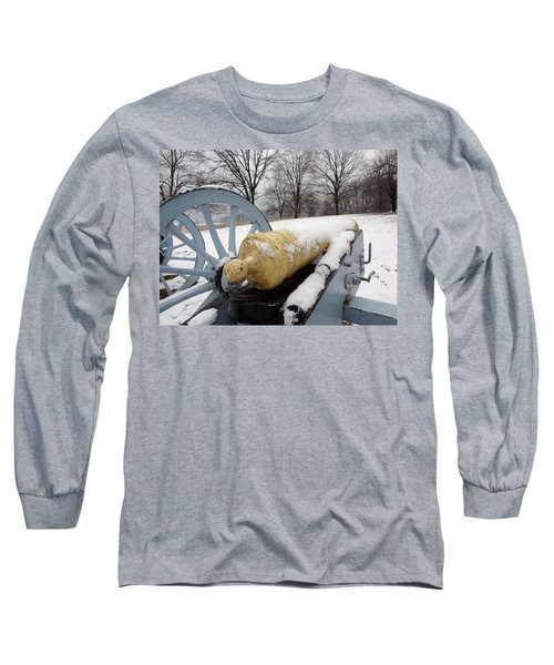 Long Sleeve T-Shirt featuring the photograph Snow Cannon by Michael Porchik
