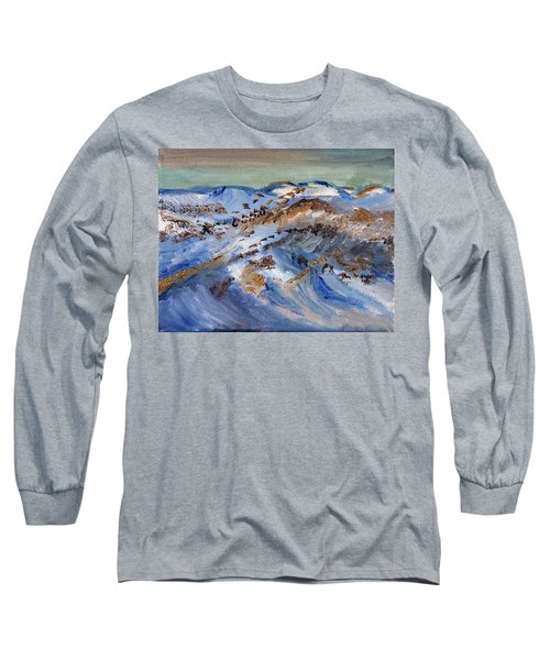 Snow Covered Sand Dunes Of Cape Cod Long Sleeve T-Shirt