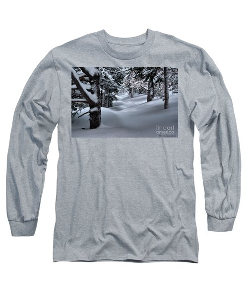 Snow Covered Trail Long Sleeve T-Shirt