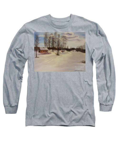 Snow In Solbrinken Long Sleeve T-Shirt by Martin Howard