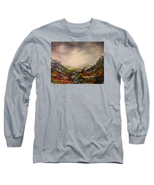 Snow On The Cairngorms Long Sleeve T-Shirt by Jean Walker