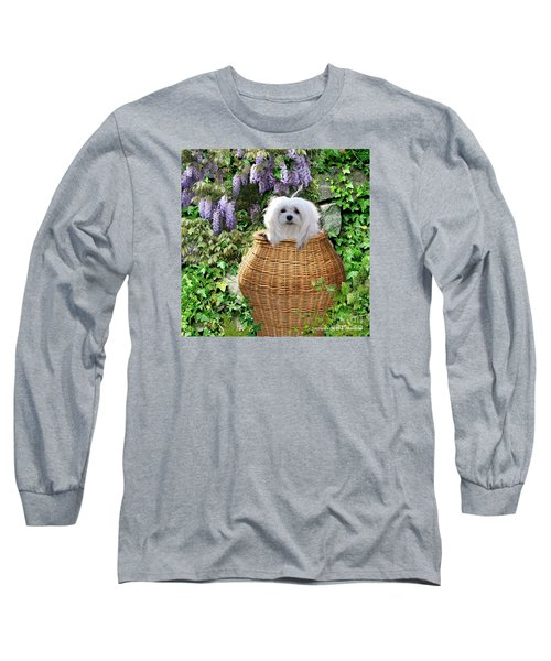 Snowdrop In A Basket Long Sleeve T-Shirt by Morag Bates
