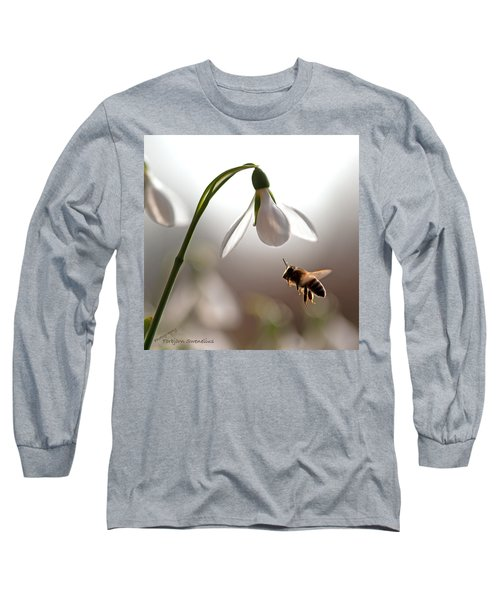 Snowdrops And The Bee Long Sleeve T-Shirt by Torbjorn Swenelius