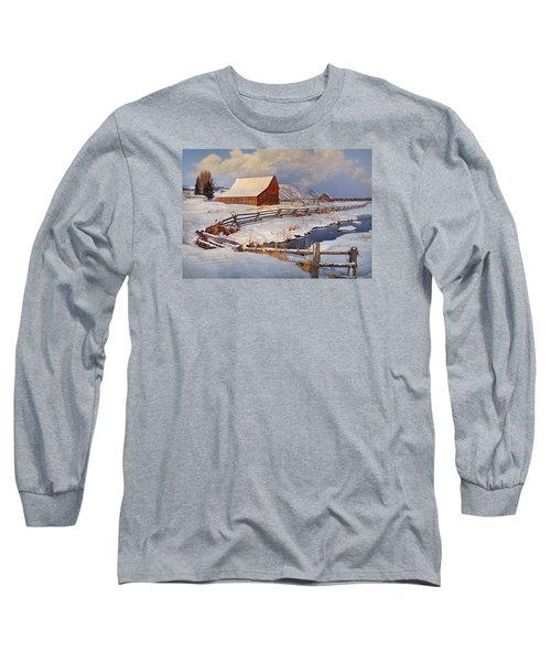 Long Sleeve T-Shirt featuring the photograph Snowed In by Priscilla Burgers