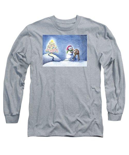 Snowman's X'mas Long Sleeve T-Shirt