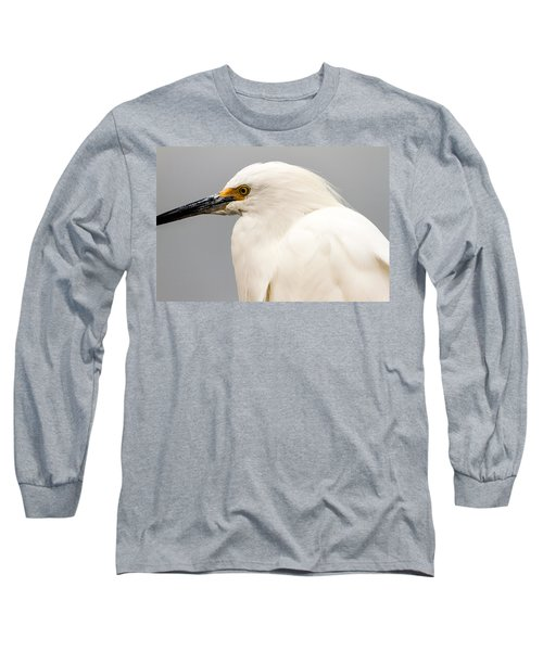 Snowy Egret Profile Long Sleeve T-Shirt