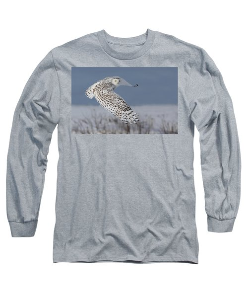 Snowy In Action Long Sleeve T-Shirt by Mircea Costina Photography