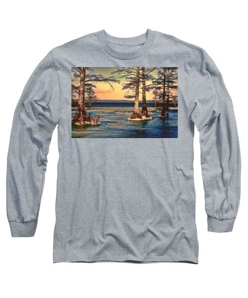 Snowy Reelfoot Long Sleeve T-Shirt by Bonnie Willis