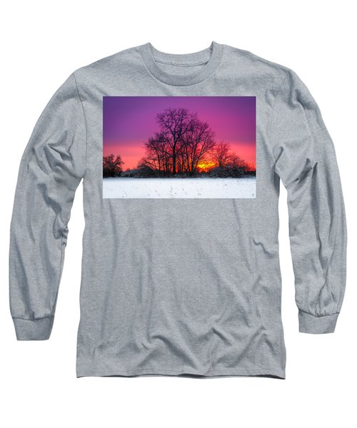 Snowy Sunset Long Sleeve T-Shirt