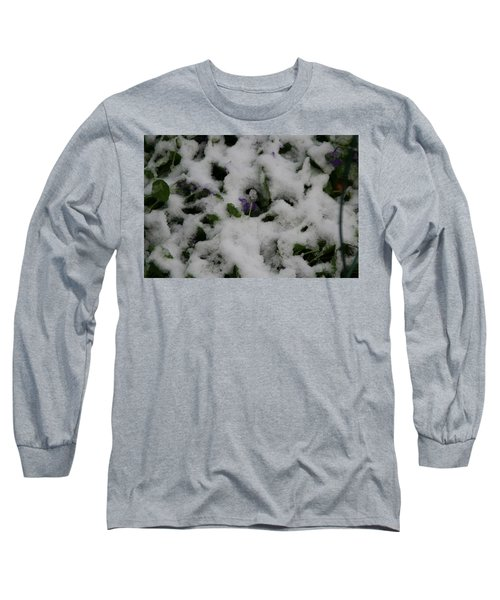 Long Sleeve T-Shirt featuring the photograph So Much For An Early Spring by David S Reynolds