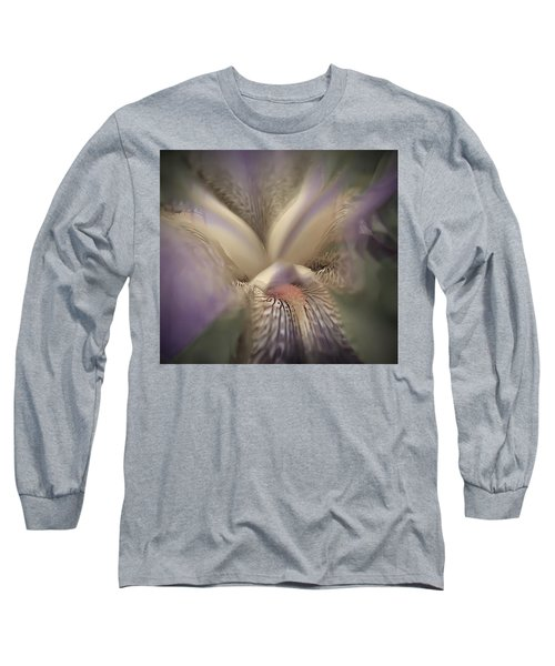 Soft Iris Flower Long Sleeve T-Shirt