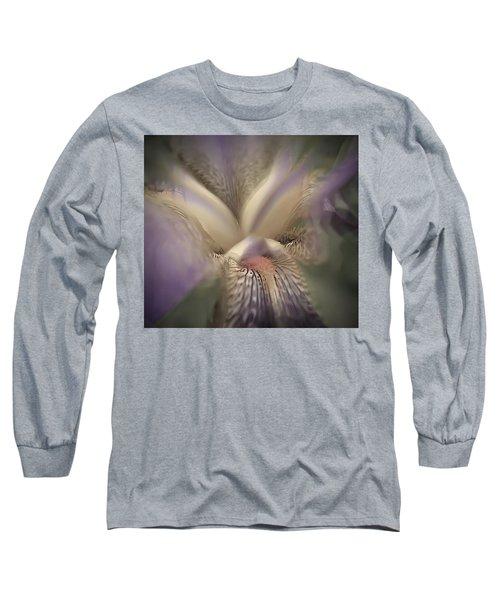 Soft Iris Flower Long Sleeve T-Shirt