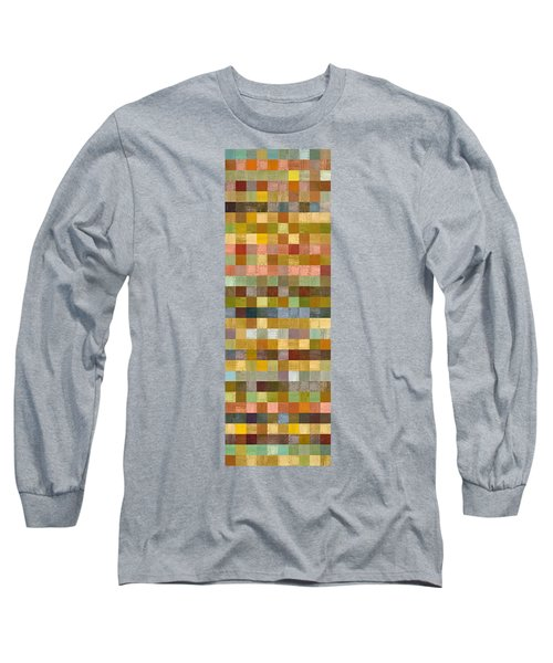 Soft Palette Rustic Wood Series Collage Ll Long Sleeve T-Shirt