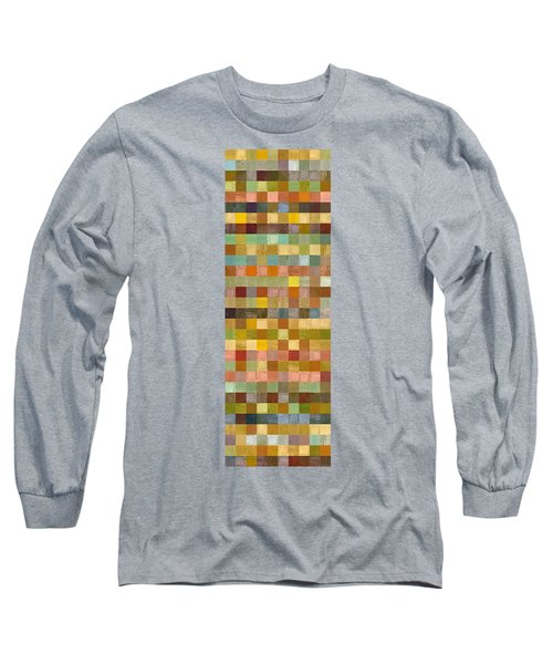 Soft Palette Rustic Wood Series Collage Lll Long Sleeve T-Shirt