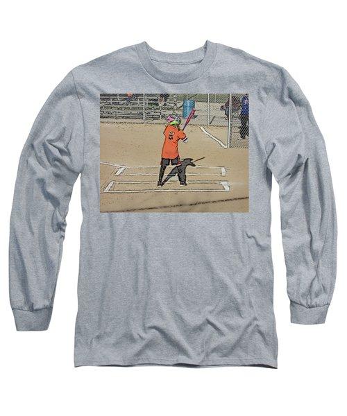 Long Sleeve T-Shirt featuring the photograph Softball Star by Michael Porchik