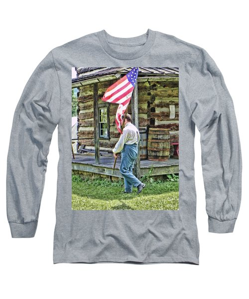 Soldier At Bedford Village Pa Long Sleeve T-Shirt by Kathy Churchman