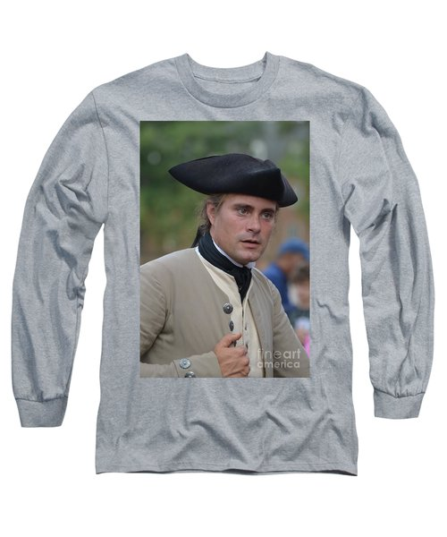 Soldier In Colonial Williamsburg Long Sleeve T-Shirt