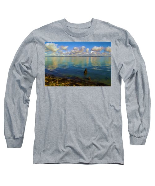 Long Sleeve T-Shirt featuring the digital art Solent by Ron Harpham