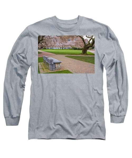 Long Sleeve T-Shirt featuring the photograph Solitary Bench by Sonya Lang