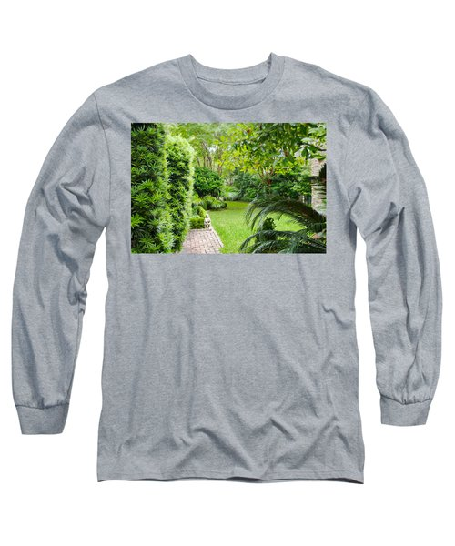 Long Sleeve T-Shirt featuring the photograph Southern Garden Charleston South Carolina by Vizual Studio