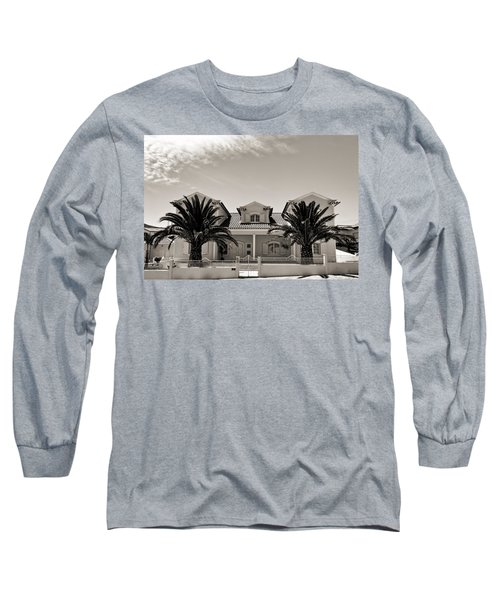Spanish Village With Palm Trees Long Sleeve T-Shirt