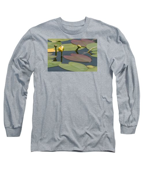 Spatterdock Heart Long Sleeve T-Shirt by Paul Rebmann