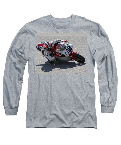 Long Sleeve T-Shirt featuring the pyrography Speed In The Corner by Shoal Hollingsworth