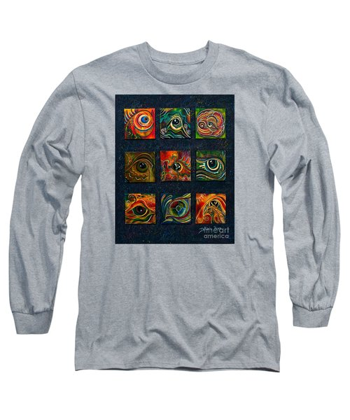 Long Sleeve T-Shirt featuring the painting Spirit Eye Collection I by Deborha Kerr