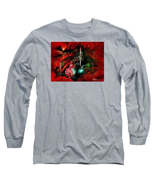 Spirit Of Christmas Long Sleeve T-Shirt by LaVonne Hand