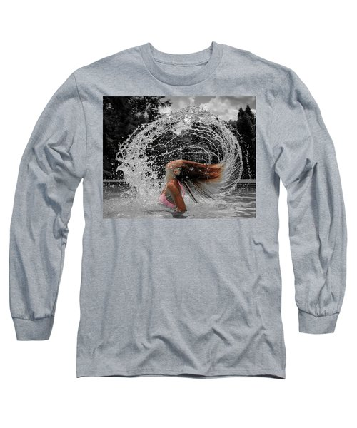 Hair Flip Splash Long Sleeve T-Shirt