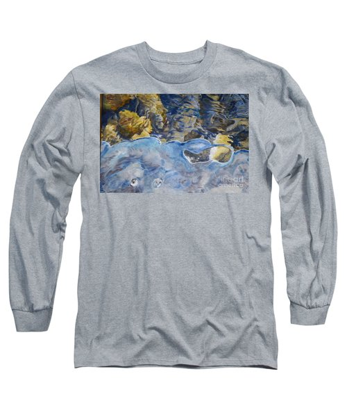 Long Sleeve T-Shirt featuring the photograph Spring Drawing A Line In The Ice  by Brian Boyle