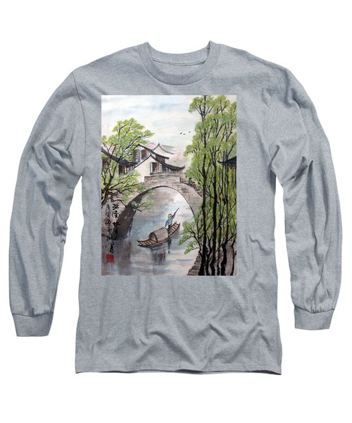 Long Sleeve T-Shirt featuring the photograph Spring In Ancient Watertown by Yufeng Wang