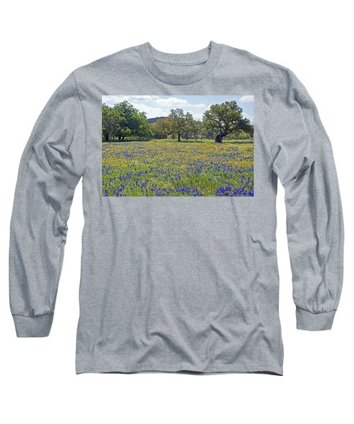 Spring In The Texas Hill Country Long Sleeve T-Shirt by Gary Holmes
