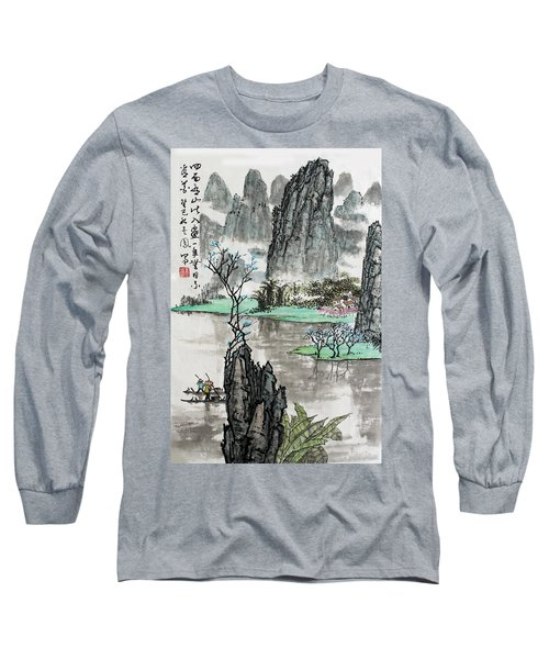 Long Sleeve T-Shirt featuring the photograph Spring River II by Yufeng Wang