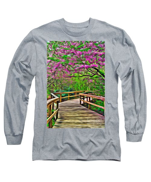 Spring Walk - Paint Rendering Long Sleeve T-Shirt