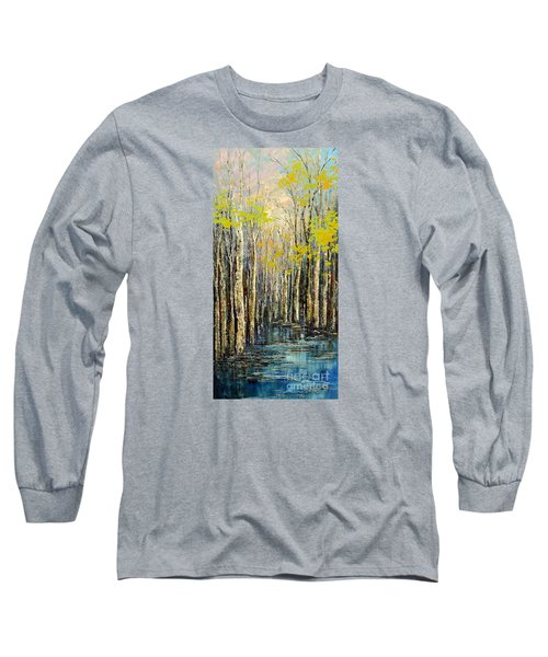 Long Sleeve T-Shirt featuring the painting Spring Wind by Tatiana Iliina