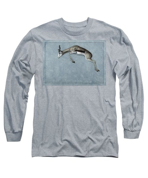 Long Sleeve T-Shirt featuring the painting Springbok by James W Johnson