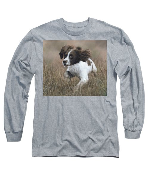 Springer Spaniel Painting Long Sleeve T-Shirt