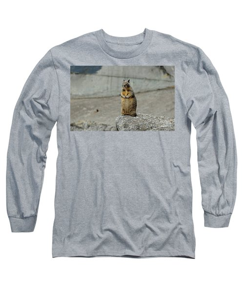 Long Sleeve T-Shirt featuring the photograph Squirrel At Lover's Point  by Susan Wiedmann