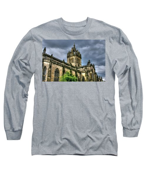 St Giles And Tree Long Sleeve T-Shirt