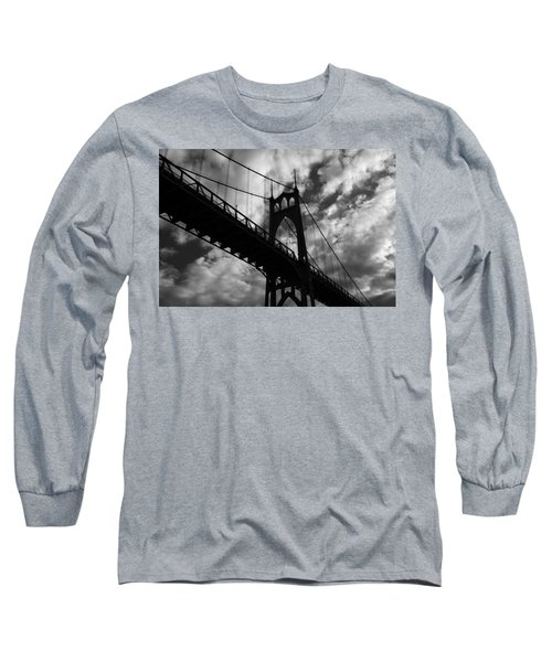 St Johns Bridge Long Sleeve T-Shirt by Wes and Dotty Weber
