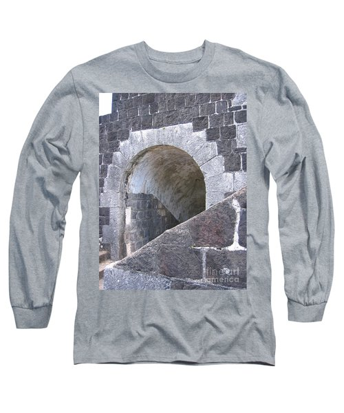 St. Kitts  - Brimstone Hill Fortress Long Sleeve T-Shirt by HEVi FineArt
