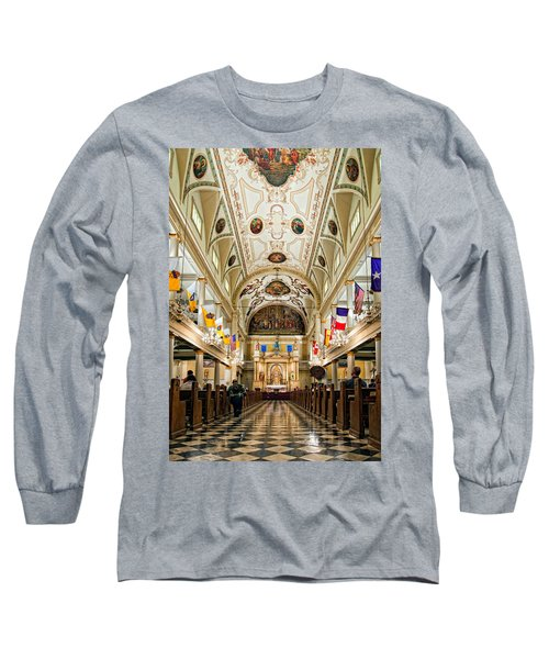 St. Louis Cathedral Long Sleeve T-Shirt by Steve Harrington