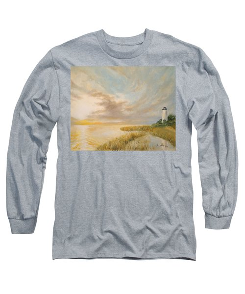 St Marks Lighthouse Long Sleeve T-Shirt by Alan Lakin