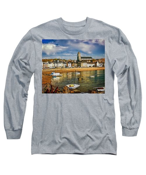 Long Sleeve T-Shirt featuring the photograph Saint Servan Anse by Elf Evans